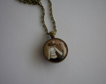 Princess Leia Rebel Tribute, 1-Inch Pendant Necklace, Double Sided!