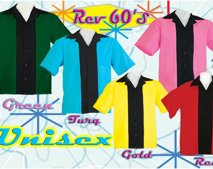 BOWLING SHIRT - Free Shipping - Unisex ~ Men's Sizing in 5 Colors