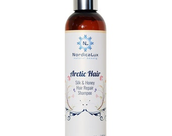 FREE SHIPPING - Silk And Honey Repair Shampoo 8 oz - Solve your unique hair repair challenge with Honeyquat & 100% pure silk amino acids