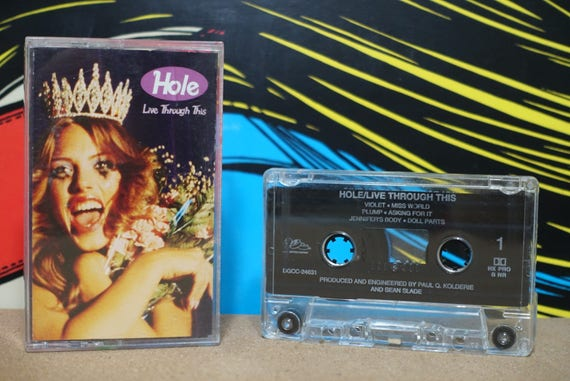 Live Through This by Hole Vintage Cassette Tape