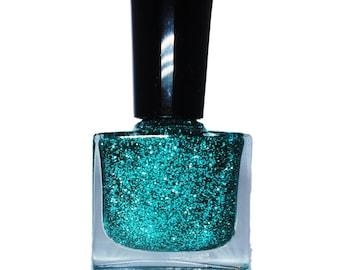 VOLTAGE-Teal Blue Glitter Nail Polish