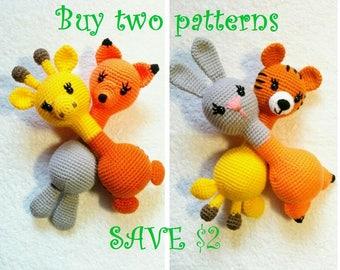 Two patterns, baby rattle toy crochet pattern, instant download, amigurumi pattern, crochet toy, soft rattle, PDF pattern, rattle pattern