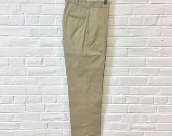 Vintage 1960s US Army 8 oz. Cotton Chinos Trousers Khakis. Size 29x32