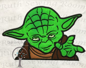 Star Wars Yoda Jedi Master Applique, Applique Embroidery Design This is NOT a PATCH!