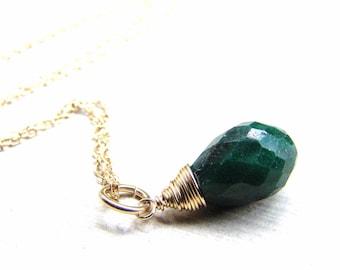 Green sapphire etsy green sapphire necklace aloadofball Choice Image