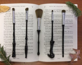 5 Piece Wizard Wand Makeup Brush Set - Inspired by Harry Potter