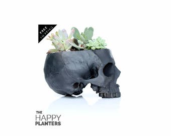 Skull decor, fruit bowl, ashtray, Skull, desk organizer, succulent planter, makeup brushes organizer, gothic home decor, boho decor