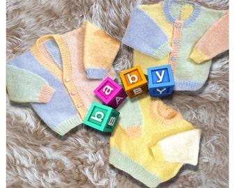 Cardigan and jersey knitting pattern, Pdf digital download