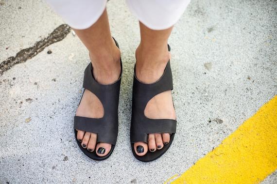 fc5dd474f4ee6 Leather Summer Sandals Greek Ring Sandals Kara Shoes Sandals Toe ...