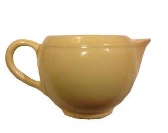 Vintage Early California Mid Century Modern Vernon Kilns Creamer Light Yellow