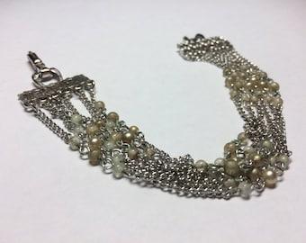 Signed Coro Multistrand Beaded Bracelet