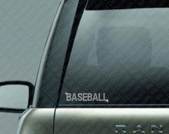 Rhinestone Baseball Car Decal