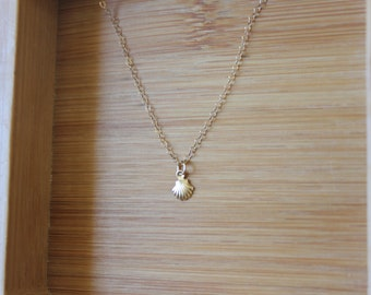 Gold filled Mermaid Shell Necklace