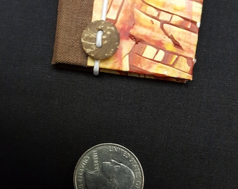 Mini Accordion book with paste paper cover