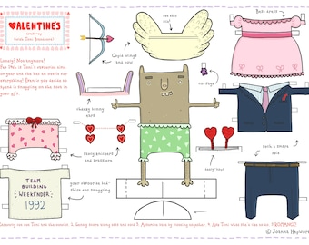 Valentine's cut out and dress up date with Toni Blandford