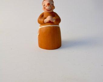 Vintage Monk Figurine Hides a Shot Glass