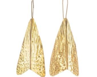 Moth - drop earrings