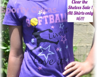 Softball Shirt - Girls Softball Gifts - Softball Player, Purple Live it, Love it  Softball Shirt, Softball Life, Softball Mom, Softball Team