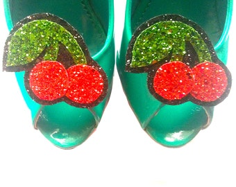 10% off with the code BDAY10  Rockabilly Cherry Shoe Clips