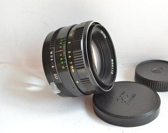 Zenitar-M 1.7/50 Russian lens screw M42 S/N 844113, with 2 caps!