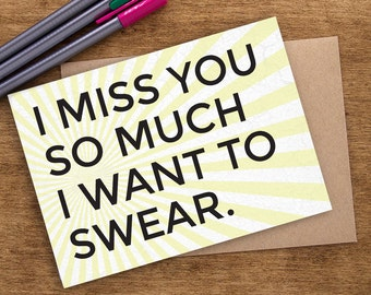 Funny I Miss You Card, Missing You Card, Long Distance Card, Long Distance Gift, Long Distance Love Card, Long Distance Best Friend Gift