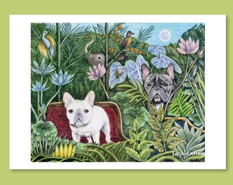 Frenchies Après Rousseau Notecards, French Bulldog Notecards, Frenchie Notecards