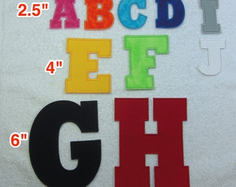 6 inch Chunk Block Iron on Letter/Monogram Fabric Embroidered Iron On Patch  MADE TO