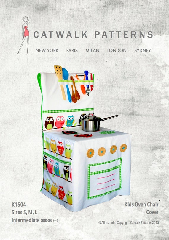 PDF Sewing Pattern: Kids Oven Chair Cover Sizes S-M-L