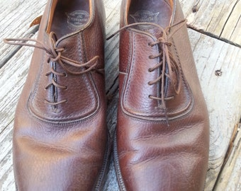 Vintage Mens Florsheim Dress Shoes Longwing Brogue Size 8 D