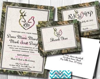 Camouflage Wedding Invitation Bundle