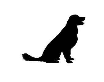 Golden Retriever v3 Dog Breed Silhouette Custom Die Cut Vinyl Decal Sticker - Choose your Color and Size