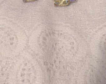Vintage Clip-on Iridescent Rhinestone Earrings