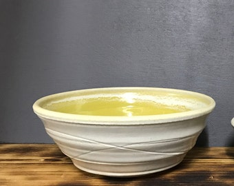 Large Stoneware Bowl Hand Thrown