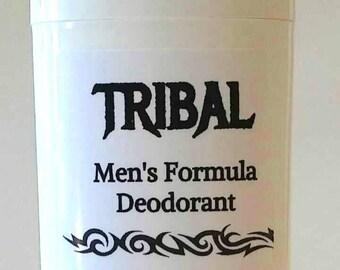 TRIBAL FORMULA DEODORANT, Extra Strength Mens Formula, Extra Strength Womens Formula, Light Strength Teen Formula, Handmade Organic Natural