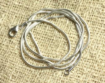 Chain snake round 1 mm 925 Silver - 51cm