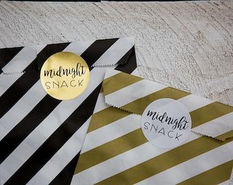 20 Round Stickers // Midnight Snack