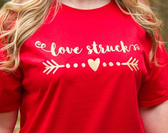 Love Struck, Valentine's Day, T-Shirt