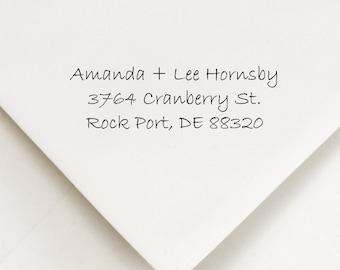 Self Ink Address Stamp - Return Address - Personalized Stamp - Modern Address - New Home Stamp - DIY Addressing - Amanda and Lee