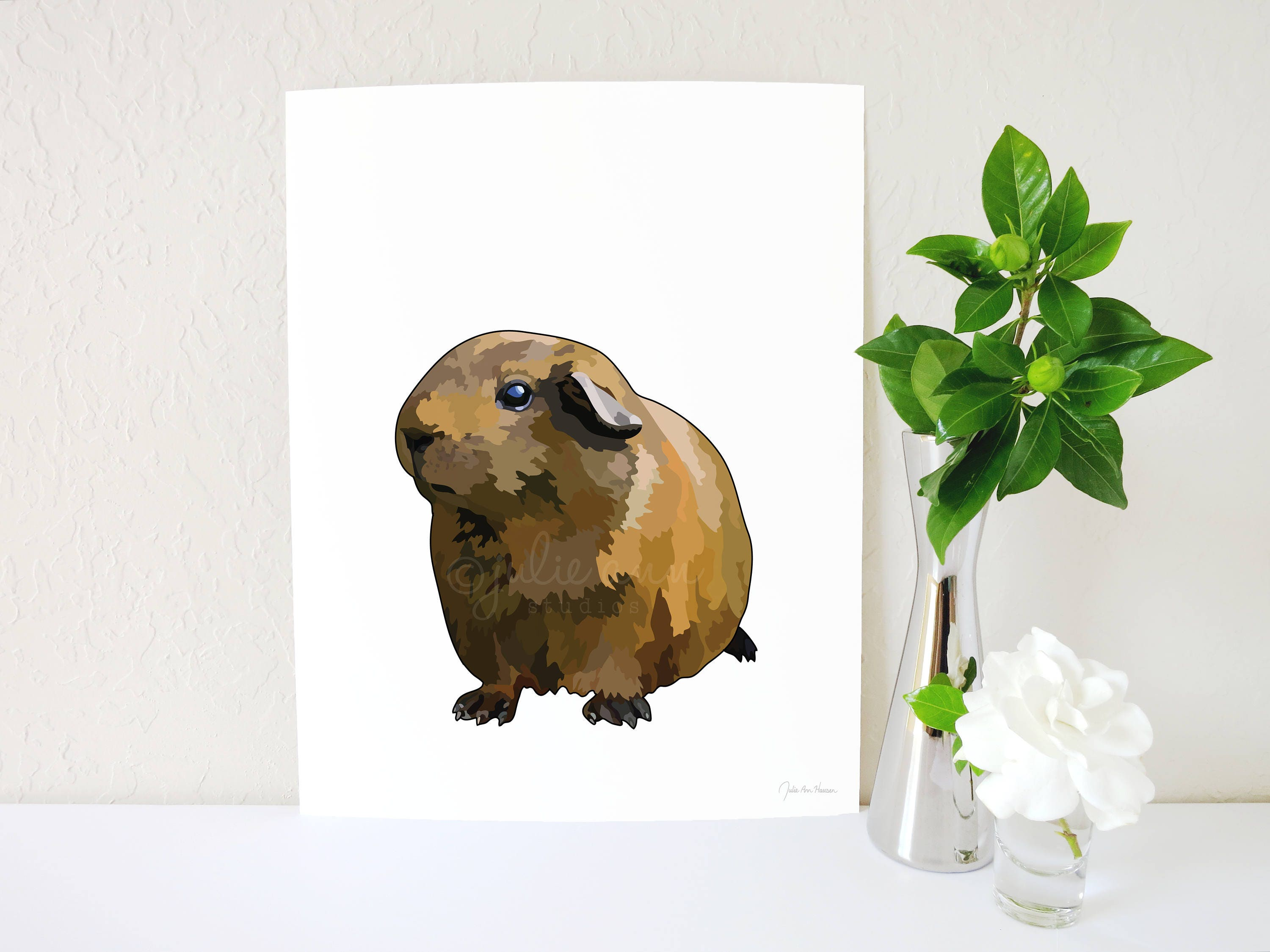 Guinea pig art print guinea pig accessories cavy wall art zoom jeuxipadfo Gallery