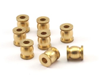 24 Raw Brass  Spacer Beads,  (7x6mm)  D073