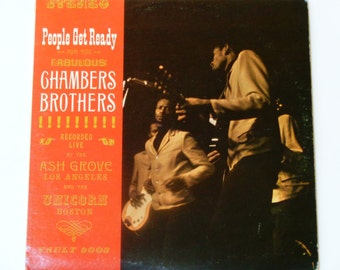 RARE Chambers Brothers - People Get Ready - Live at the Ash Grove and the Unicorn - Rock Funk R&B - Vault 1965 - Vintage Vinyl Record Album