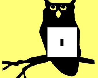 Vinyl Owl Light Switch Sticker with Free Postage