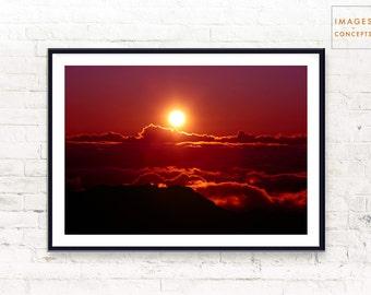 Digital Download - Landscape Photography - Hawaii Sunrise - Landscape Art - Nature Photo - Large Wall Art - Printable Art - Instant Download