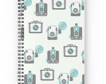 Camera Journal - Photography Journal - Retro Notebook - Camera Notebook - Spiral Notebook - Spiral Journal - Photography Notebook • Retro