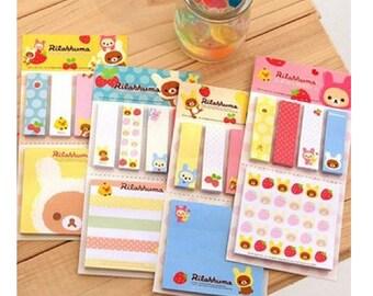 Cute Cartoon Strawberry Rilakkuma Stationery Sticky Notes Memo Pad