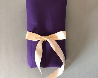 Purple & Lilac Makeup Brush Pouch