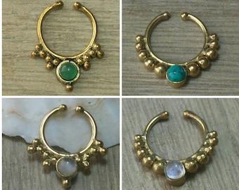 Fake septum, Fake septum ring, Fake nose ring, Fake piercing, Faux septum ring, Faux septum, Septum cuff, Fake septum piercing, Fake jewelry