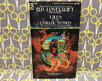 Tales of the Cthulhu Mythos Volume 1 by HP Lovecraft Paperback Book Horror Vintage