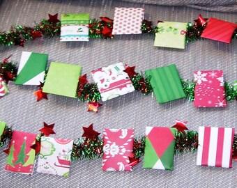 CUSTOM Tea Advent Calendar GARLAND Assorted Tea Wall Hanging Door Decoration Gift