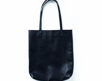Black Leather Tote Bag | Black Leather Tote | Leather Tote | Black Shoulder Bag